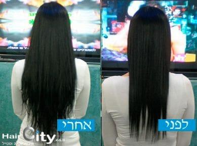 תוספות שיער מסוגים שונים